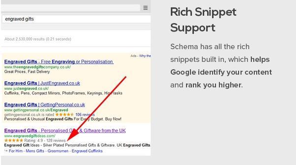 Rich snippet support of Schema