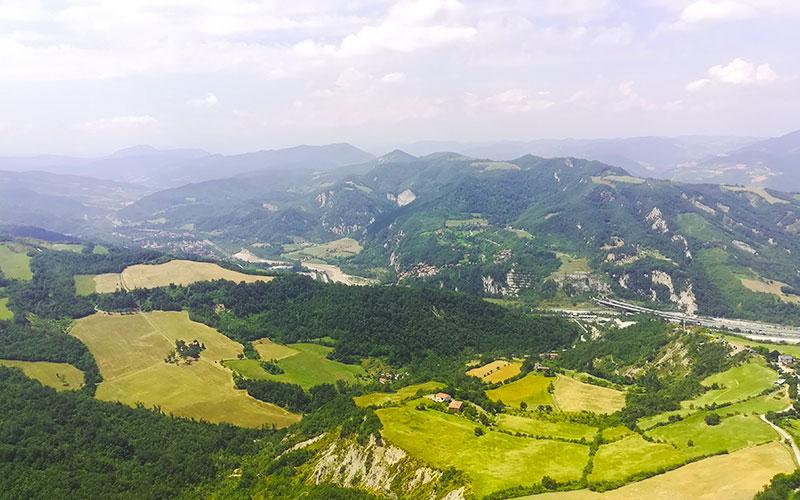 vista da Monte Adone Via degli Dei
