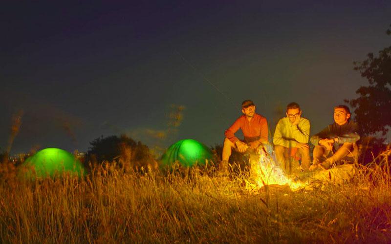 in tenda sulla via degli dei