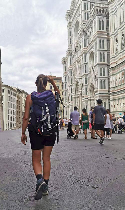 Via degli Dei arrivo a Firenze
