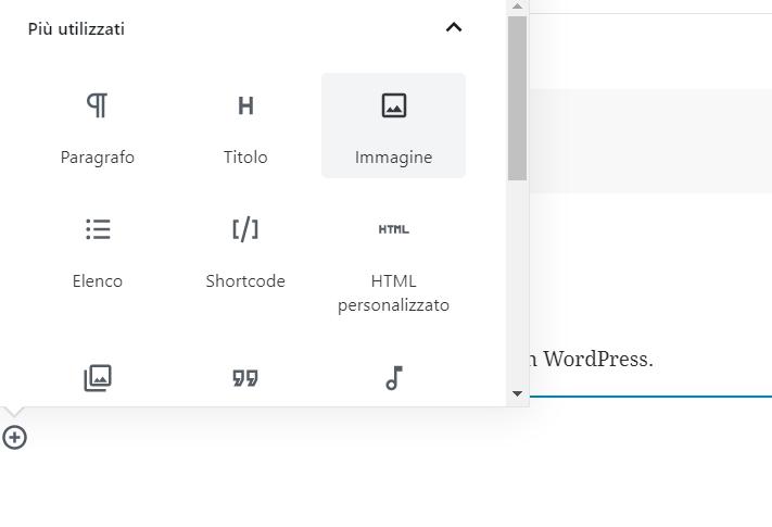 Inserire una immagine in un articolo WordPress