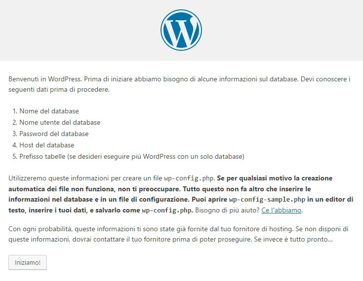 Installare WordPress via FTP