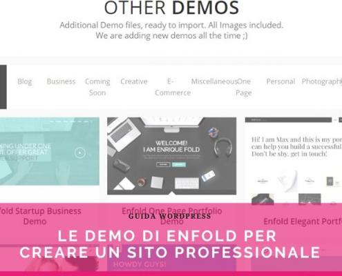 creare un sito web professionale velocemente enfold