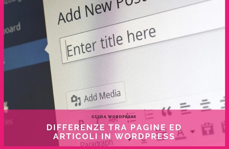differenze tra pagine ed articoli in wordpress