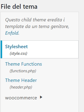 enfold tema child file