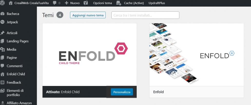 installare enfold su wordpress