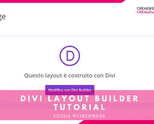 divi layout builder tutorial italiano