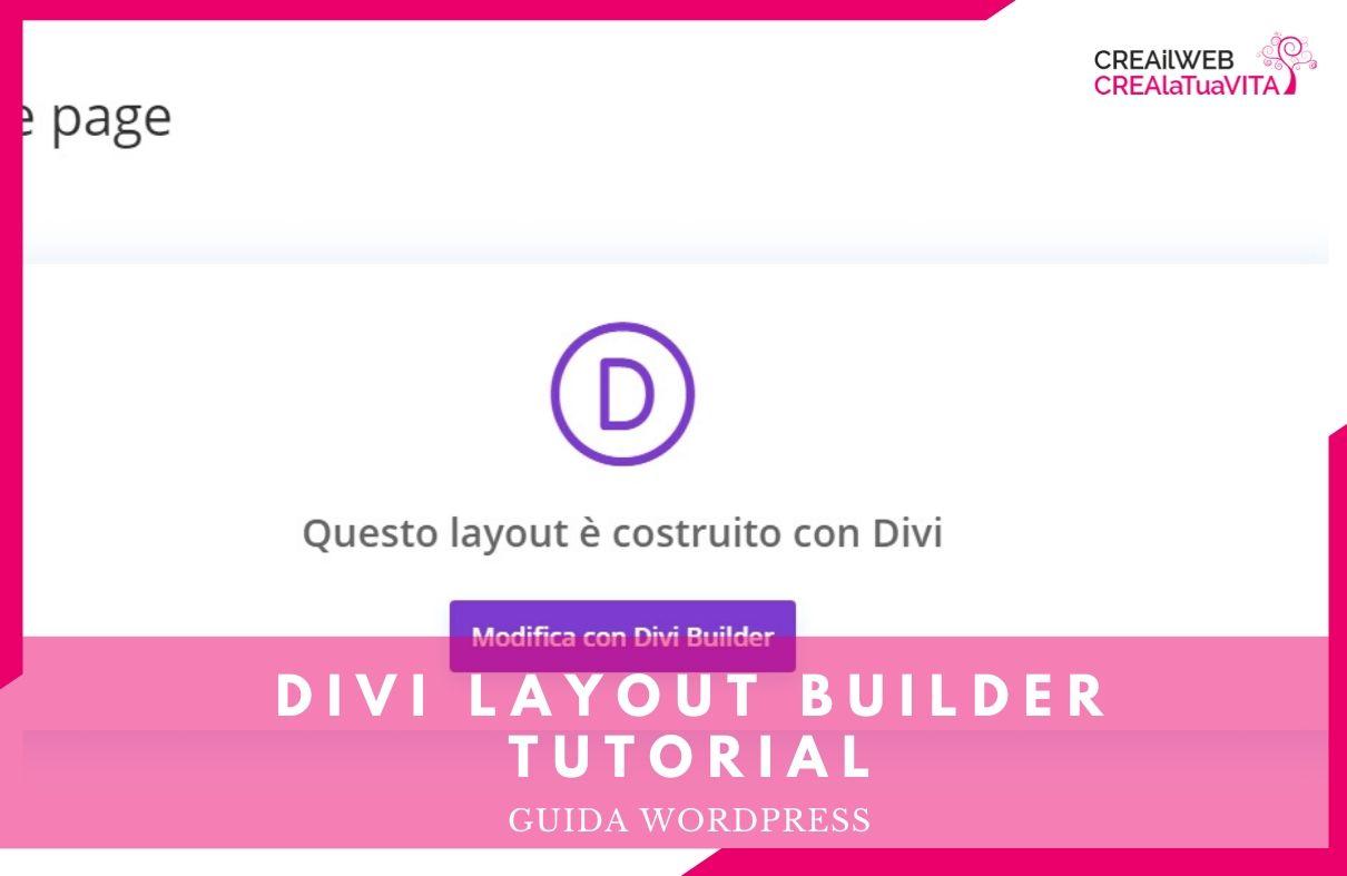 divi layout builder tutorial italiano