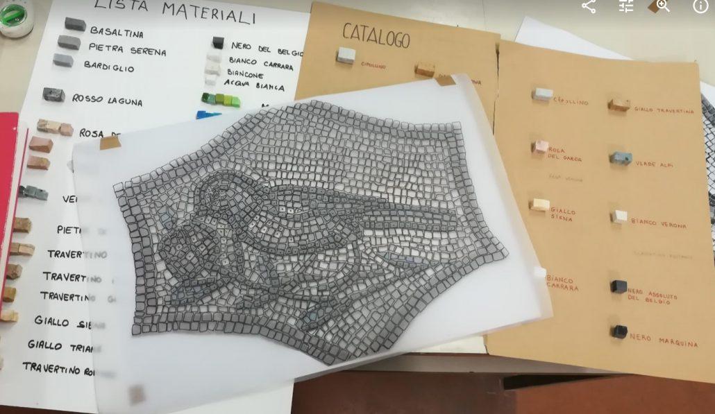Materiali del mosaico