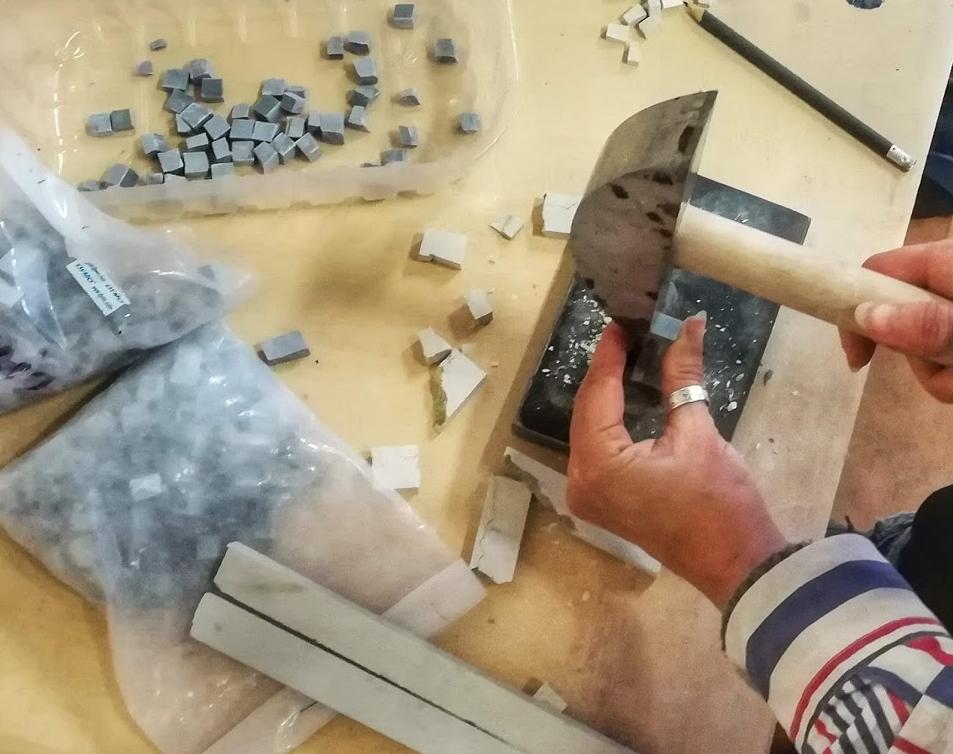 Preparare le tessere per il mosaico