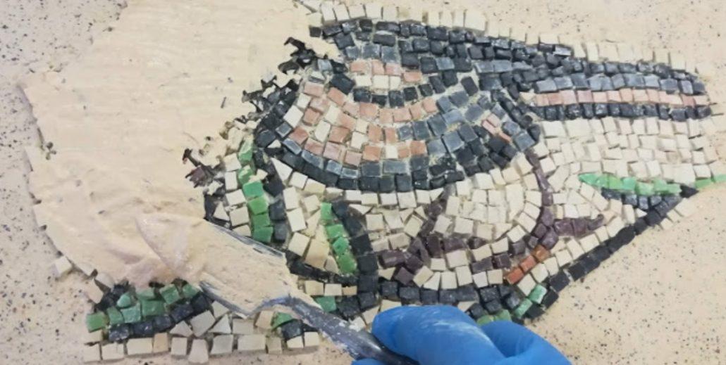 Malta di stuccatura mosaico